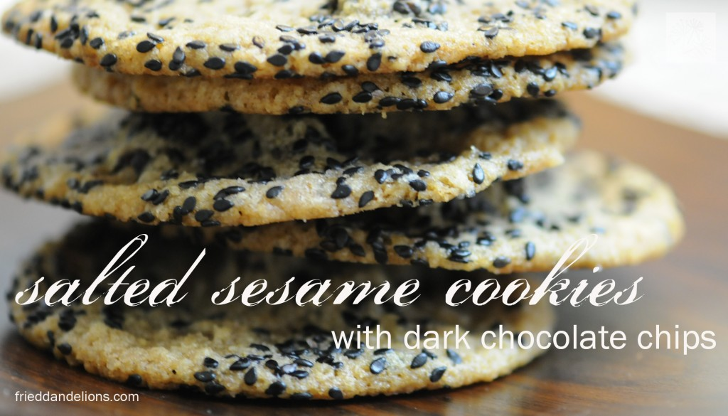 Salty Sesame And Dark Chocolate Chip Cookies Recipe — Dishmaps