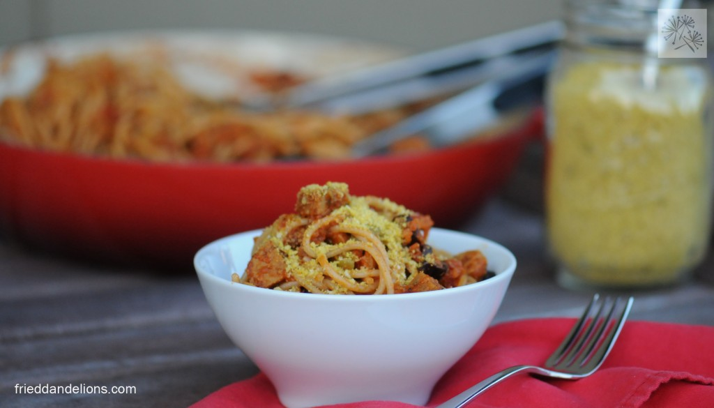 fried dandelions // easy pasta sauce