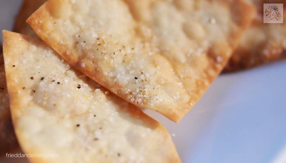 Edamame Puree — Fried Dandelions
