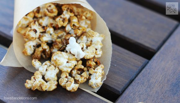 Spice Cookie Kettle Corn on table