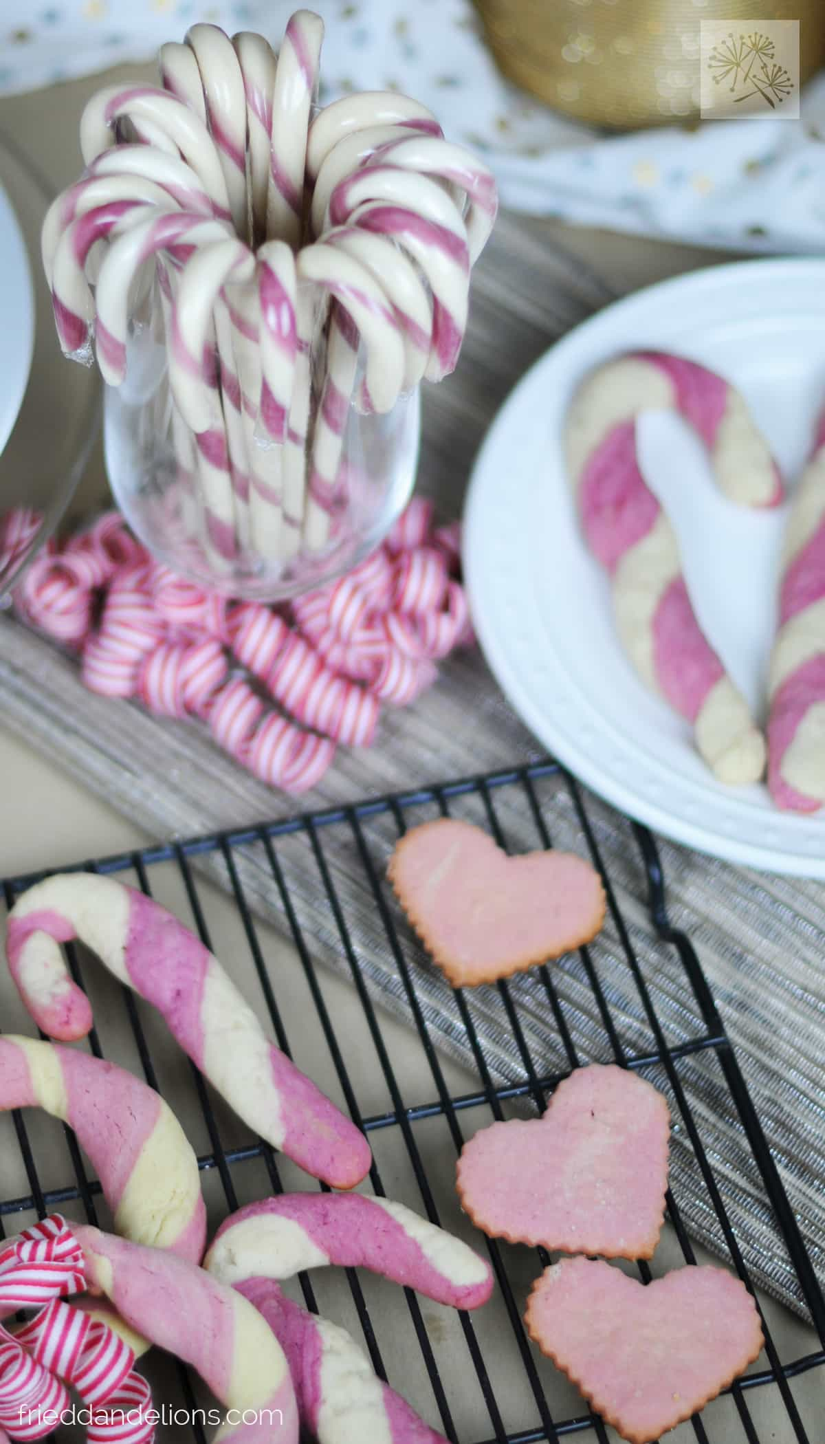 Candy Cane Cookies Fried Dandelions Plant Based Recipes