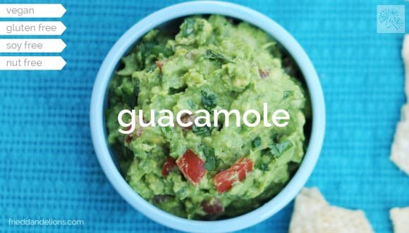 Guacamole // Fried Dandelions