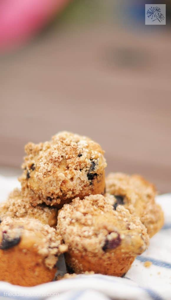 fried dandelions // apple streusel muffins
