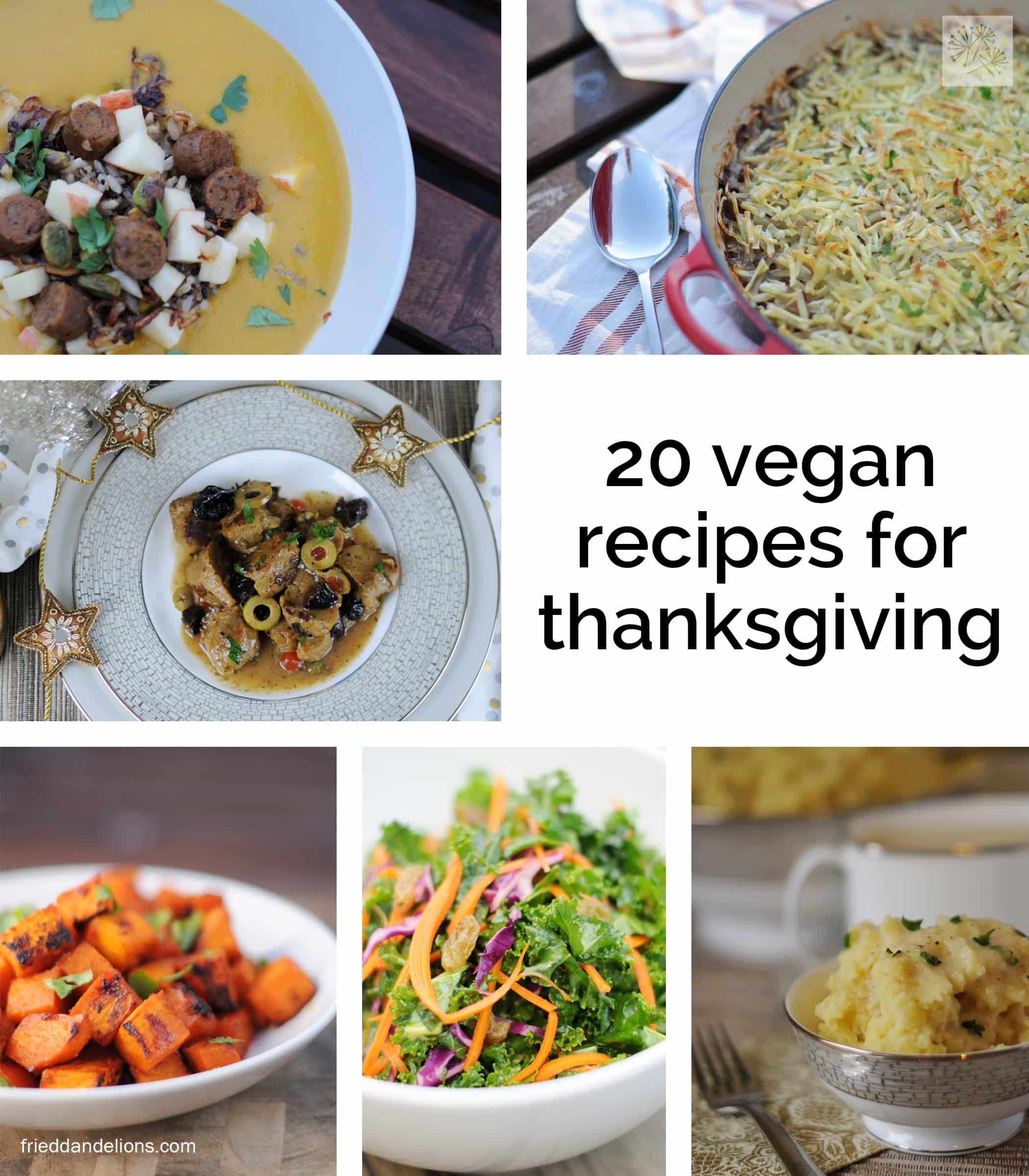 20 Vegan Recipes For Thanksgiving!