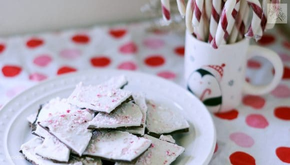 fried dandelions // peppermint bark