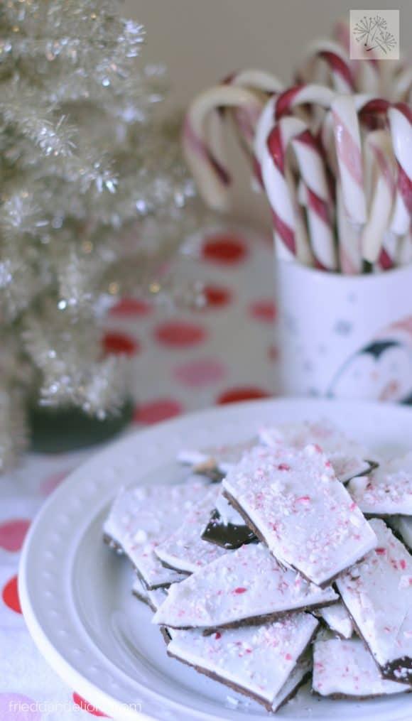 fried dandelions // peppermint bark