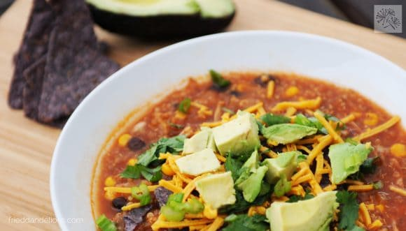 fried dandelions // taco soup