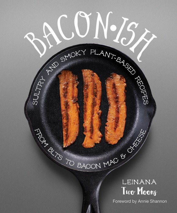 cover of cookbook Baconish, with recipe for vegan brussels sprouts with bacon