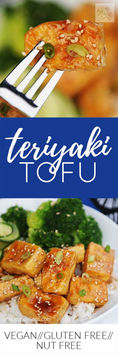 fried dandelions // teriyaki tofu
